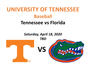 UT vs UF Baseball