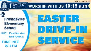 Easter Drive in Service